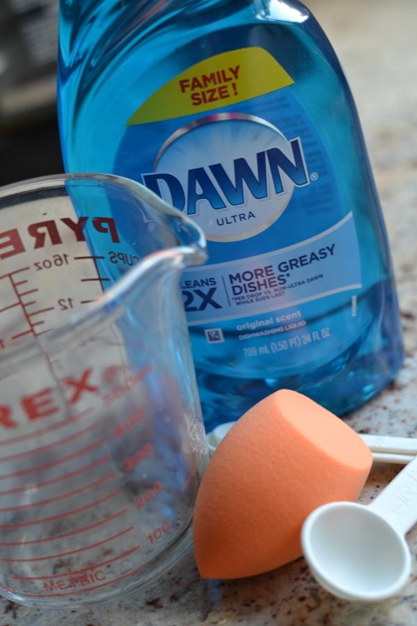 how to clean beauty sponge